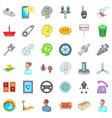 car garage icons set cartoon style vector image vector image