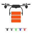 cargo drone flat icon vector image vector image