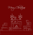 christmas celebration card new year and vector image