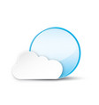 circle with cloud on white background vector image vector image