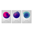 color vortex minimalistic poster design template vector image vector image
