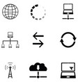 connect icon set vector image