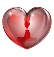 couple faces heart vector image vector image