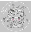 Cute Drawing Girl vector image vector image
