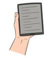 e-book reader vector image