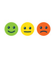 emotion faces positive negative and neutral vector image vector image