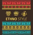 ethno banner with tribal symbols vector image vector image