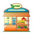 farm vegetables street shop icon cartoon style vector image