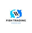 fish trade trading logo icon vector image vector image
