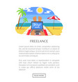 freelance web page and text vector image vector image
