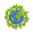 green planet earth concept earth day world map vector image
