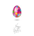 happy easter card egg pink vector image vector image