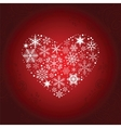 Heart of Snowflakes vector image vector image