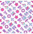 holiday seamless pattern with thin line icons vector image vector image