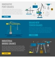 Lifting Equipment Banner vector image