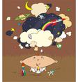 little boy dreams vector image vector image