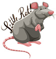 Little rat with text vector image
