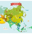 map asia vector image