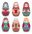 matryoshka babushka doll vector image vector image