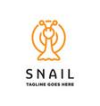 monoline snail logo vector image