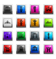 monuments icon set vector image