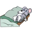 Mouse in Bed vector image vector image