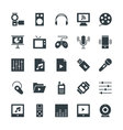 Multimedia Cool Icons 4 vector image vector image