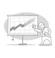 old economist presents growth forecasts chart vector image vector image