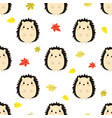 pattern with hedgehog vector image vector image