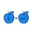 physics line icon vector image