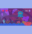 pixel game interface layout design angry blue vector image