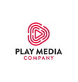 play media logo design vector image vector image