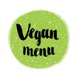 raw vegan badges hand drawn lettering label vector image