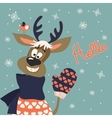 Reindeer says hello vector image vector image