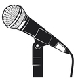 retro microphone with stand vector image vector image