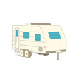 retro recreation vehicle camper camping rv vector image