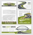 road and highway banner template design vector image vector image