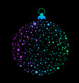 round christmas ball with crumble bright stars vector image