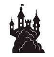 Scary halloween castle icon simple style