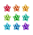 Set of Red Orange Yellow Blue Green Purple Bows vector image