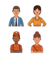 set of workers cartoons vector image