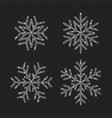 snowflake set from christmas decoration vector image vector image