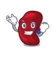 successful spleen character cartoon style vector image vector image