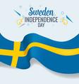 sweden indepedence day celebration banner vector image