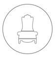 throne icon black color in circle vector image vector image