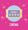 ticket of cinema isolated icon vector image