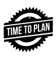 Time to plan stamp vector image