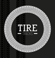 Tire design vector image vector image