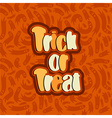 trick or treat lettering text vector image vector image