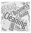 Ultimate Guide to Start a Successful Cleaning vector image vector image